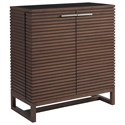 Universal Spaces Walnut Henley Bar Cabinet - Item Number: 871890
