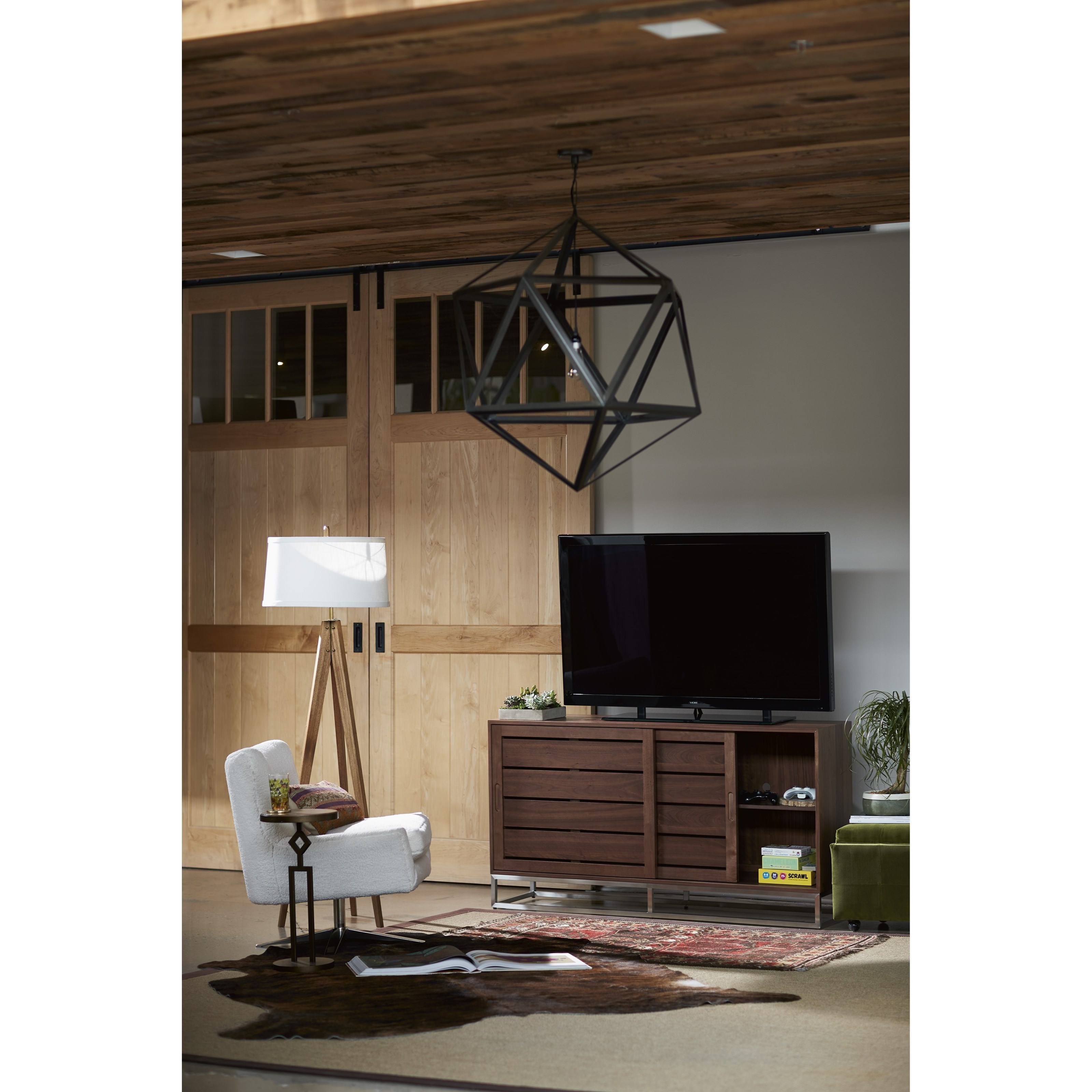 Home Entertainment Spaces: Universal Spaces Walnut Logan Entertainment Console In Walnut Finish
