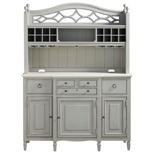 2 Pc. Serving Buffet and Bar Hutch
