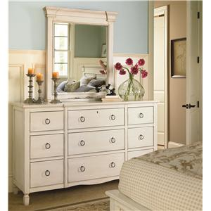 Universal Summer Hill 9 Drawer Dresser with Mirror