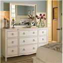 Morris Home Furnishings Summer Shade Dresser and Mirror Set - Item Number: 987040+05M