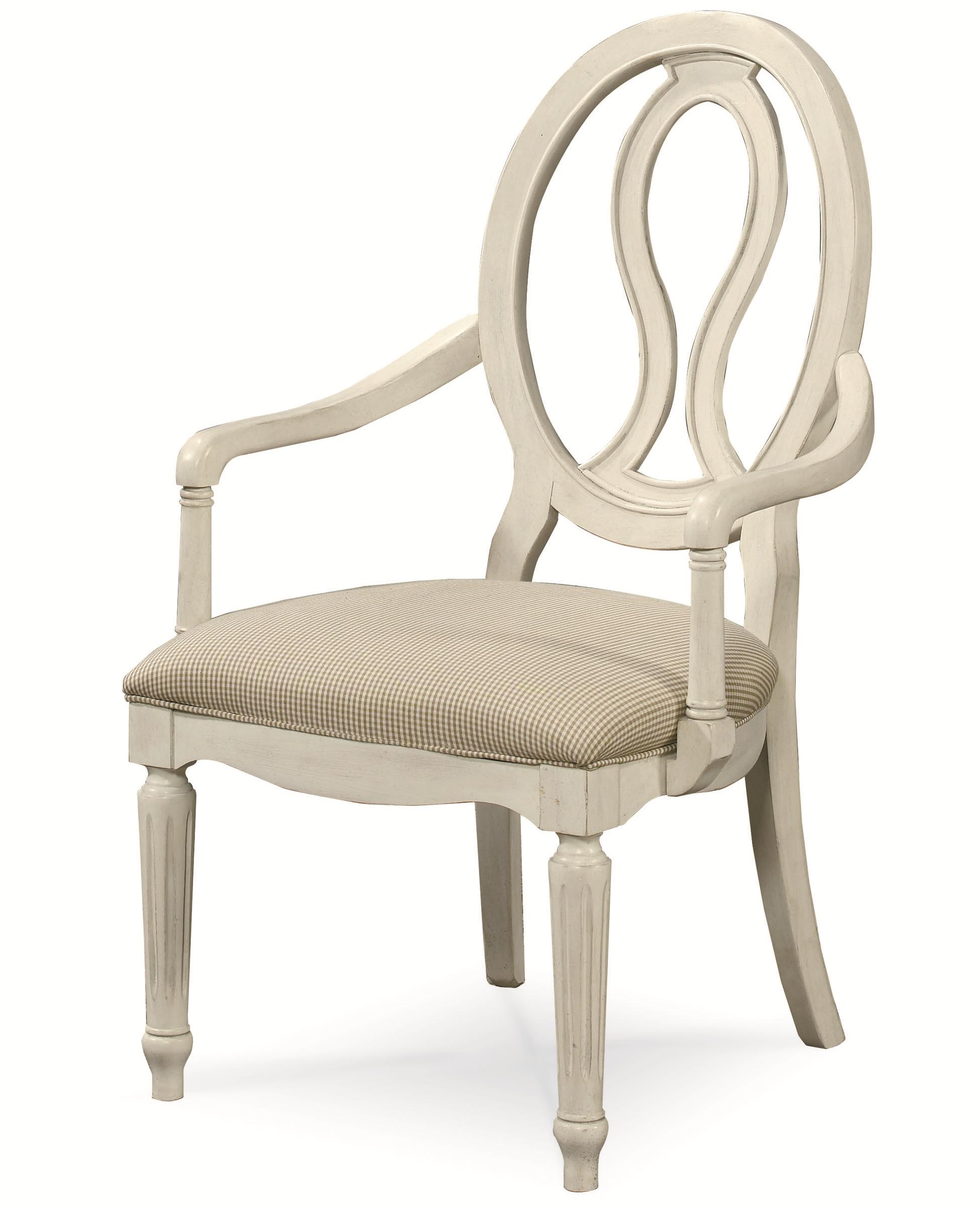 Universal Summer Hill Pierced Back Arm Chair - Item Number: 987637-RTA