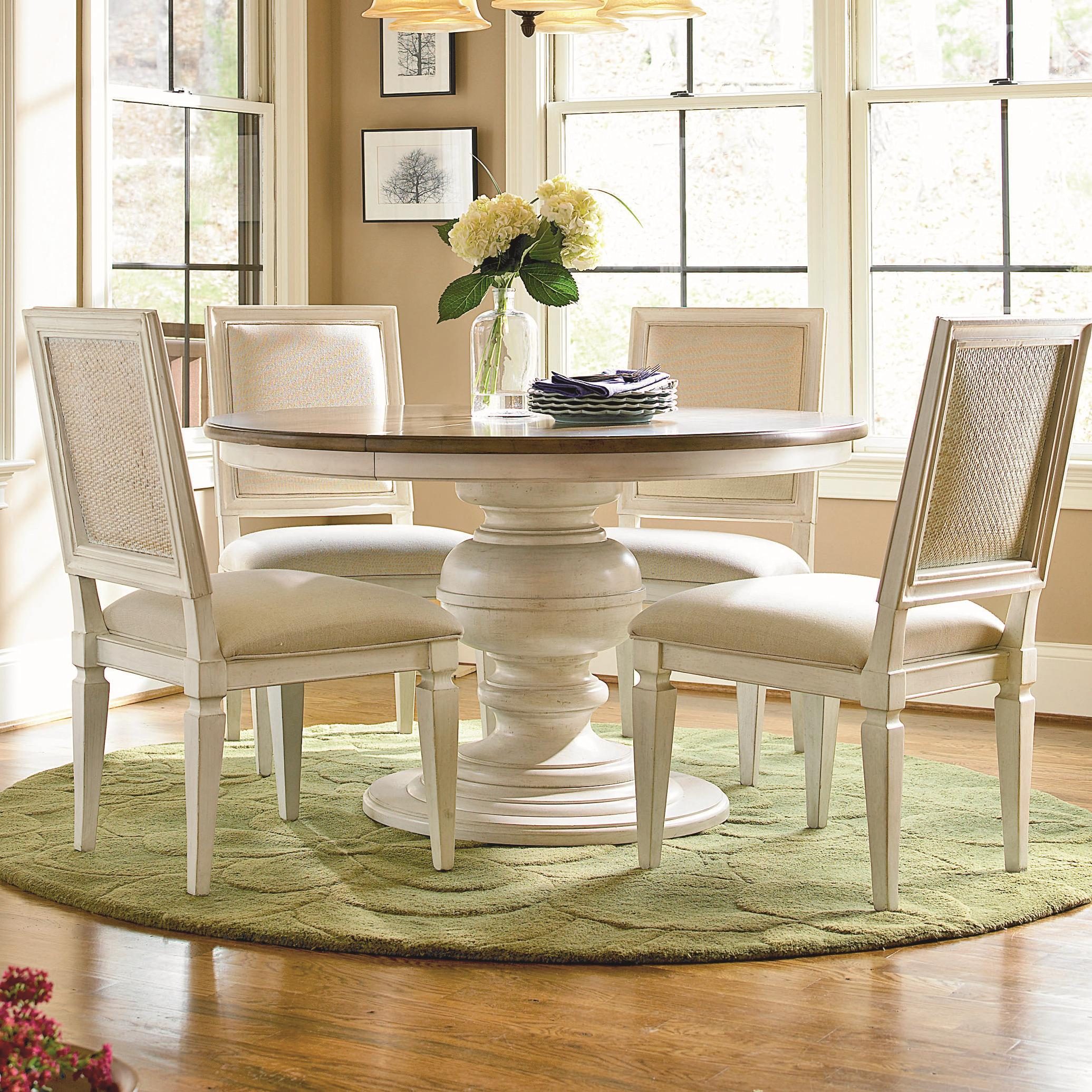 Universal Summer Hill 9+9x939 9 Piece Round Pedestal Table ...