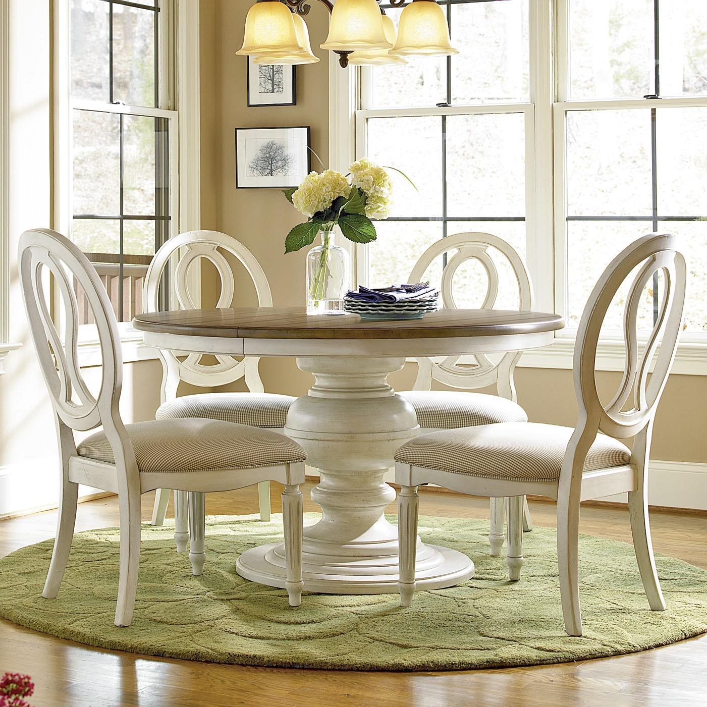 Universal Summer Hill 5 Piece Dining Set With Pierced Back