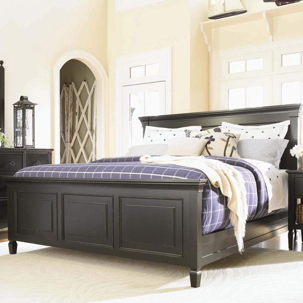 Summer hill complete california king panel bed by for Bedroom sets with mattress
