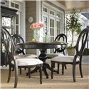 Universal Summer Hill Upholstered Seat, Pierced Back Side Chair  - Side Chair Shown With Midnight Round Table