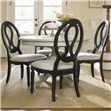 Universal Summer Hill Upholstered Seat, Pierced Back Side Chair  - Side Chairs Shown with Dusk Round Table