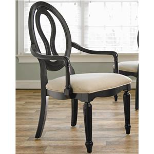 Morris Home Furnishings Summer Hill Pierced Back Arm Chair