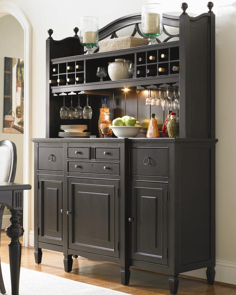 Attractive Universal Summer Hill 2 Pc. Serving Buffet And Bar Hutch With Wine Storage    AHFA   China Cabinet Dealer Locator