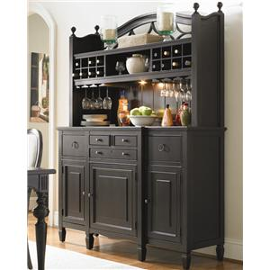 Universal Summer Hill 2 Pc. Serving Buffet and Bar Hutch