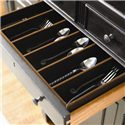 Morris Home Furnishings Summer Hill Serving Buffet with Storage - Divided Silver Drawer