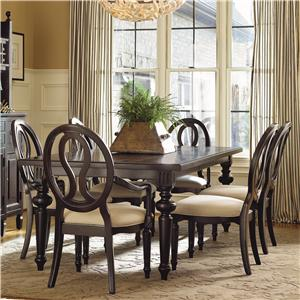 Morris Home Furnishings Summer Hill 7 Piece Table and Chair Set