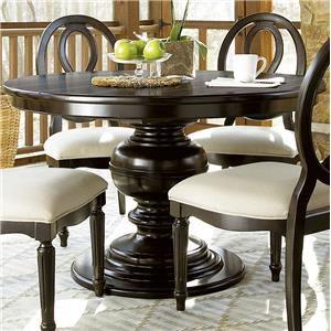 Morris Home Furnishings Summer Hill Summer Shade Round Pedestal Table