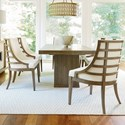 Universal Synchronicity 7 Piece Rectangular Table and Chair Set - Item Number: 628655+6x633