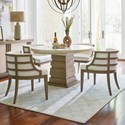 Universal Synchronicity 5 Piece Round Table and Chair Set - Item Number: 628657+4x625