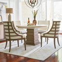 Universal Synchronicity 5 Piece Round Table and Chair Set - Item Number: 628657+4x633