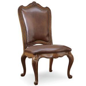 Morris Home Furnishings Camden Uph Back Side Chair-Leather
