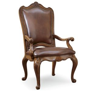 Morris Home Furnishings Camden Leather Dining Arm Chair