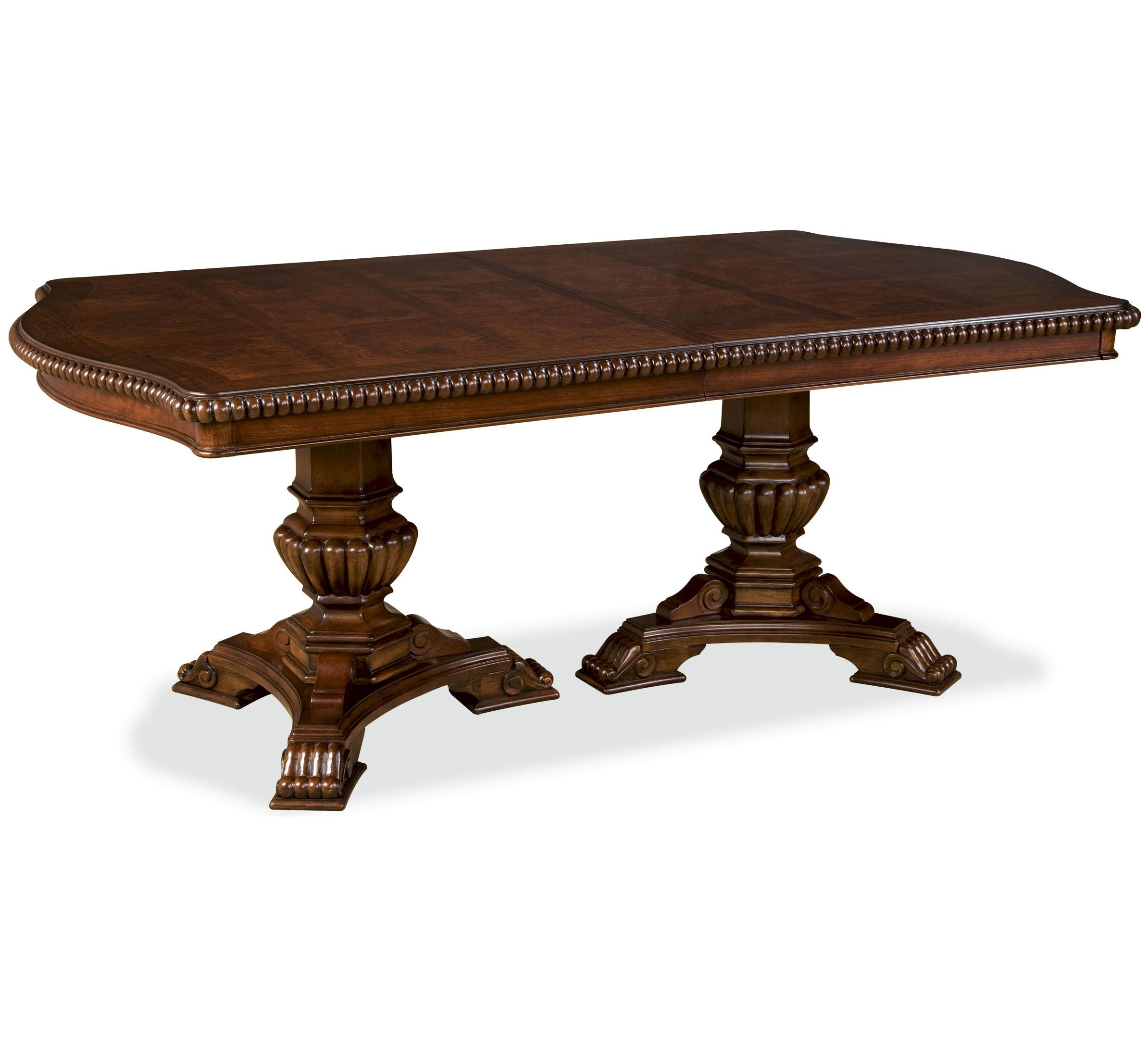 Universal Villa Cortina Double Pedestal Dining Room Table With ...