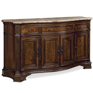 Universal Villa Cortina Storage Credenza with Marble Top