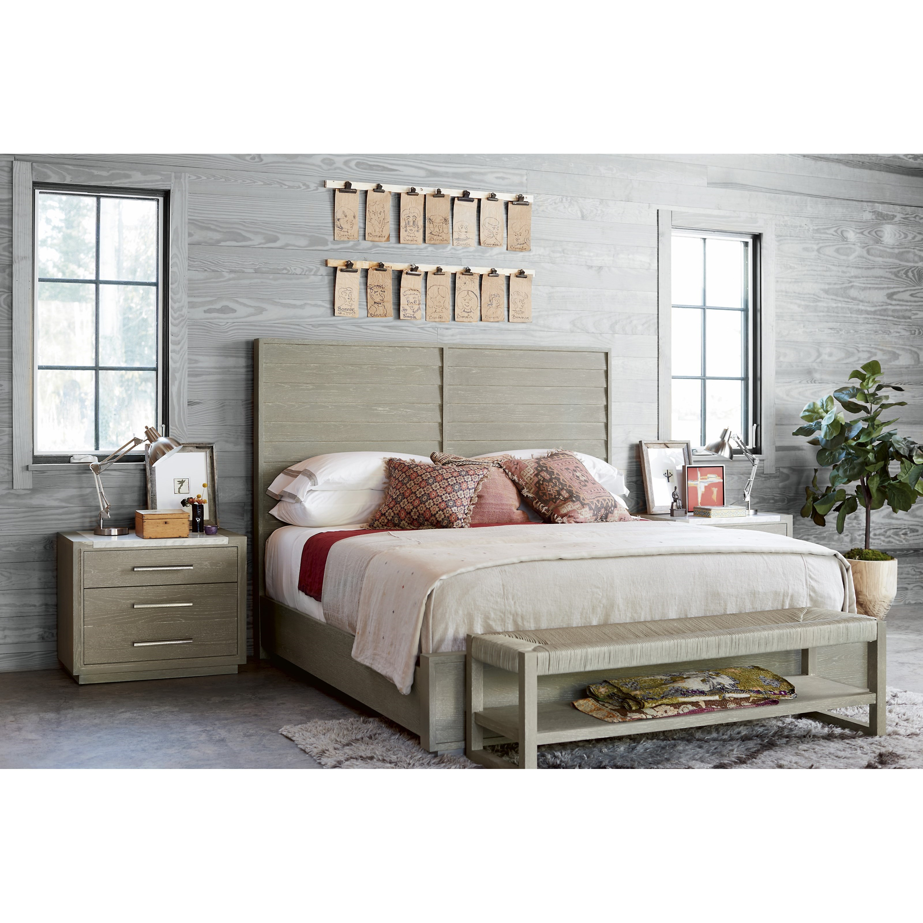 Zephyr Queen Bedroom Group by Universal at Powell's Furniture and Mattress