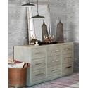 OCONNOR DESIGNS Zephyr Dresser and Mirror Combo - Item Number: 758040+M