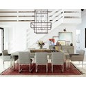 Universal Zephyr 9 Piece Table and Chair Set - Item Number: 758653+2x633+6x632