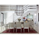 OCONNOR DESIGNS Zephyr 9 Piece Table and Chair Set - Item Number: 758653+2x635+6x634