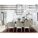 Universal Zephyr 9 Piece Table and Chair Set - Item Number: 758653+2x638-RTA+6x634