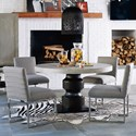 Universal Zephyr 5 Piece Table and Chair Set - Item Number: 758657+4x632