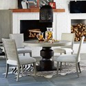 Universal Zephyr 5 Piece Table and Chair Set - Item Number: 758657+4x634