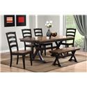 Urban Styles Cambridge 6 pc Dining Set - Item Number: 1810+4X1812+1813