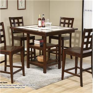 U.S. Furniture Inc 2230 Dinette 5 Piece Pub Dining Set