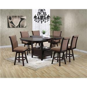 US Furniture Inc 2241 2242 Pub Height Dining Table With