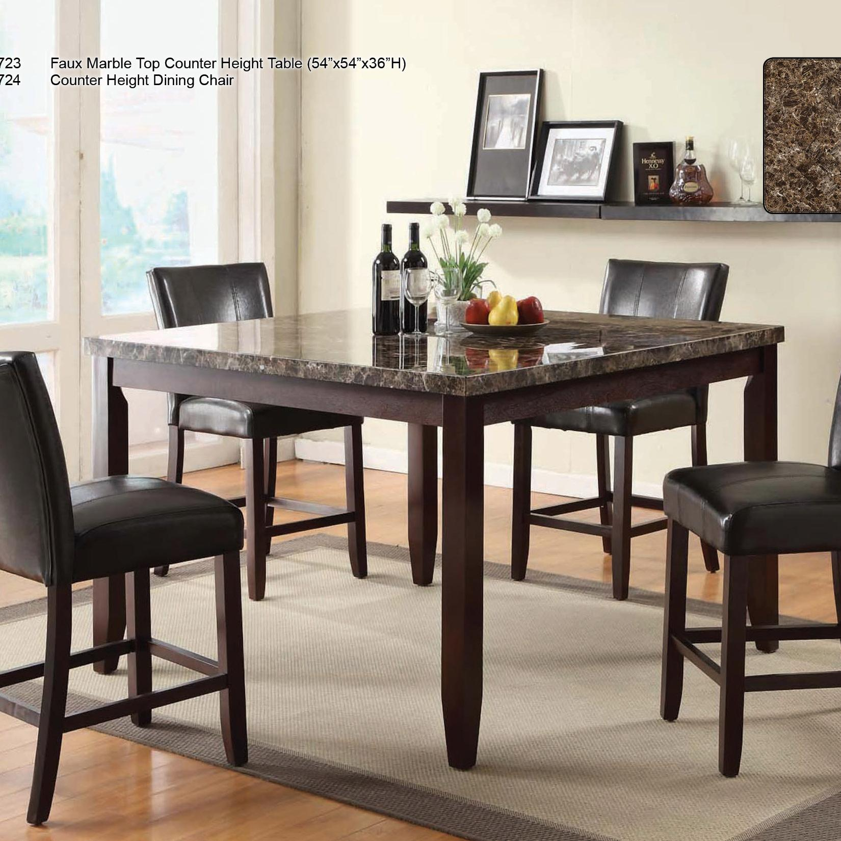 U.S. Furniture Inc 2720 Dinette Transitional Five Piece Faux Marble ...