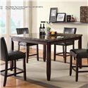 U.S. Furniture Inc 2720 Dinette 5 Piece Pub Dining Set - Item Number: 2723+4X2724
