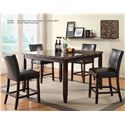 U.S. Furniture Inc 2720 Dinette Transitional Counter Height Dining Table with Upholstered Seat - Shown with Counter-Height Table