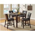 U.S. Furniture Inc 2720 Dinette 5 Piece Pub Dining Set - Item Number: 2729+4x2724