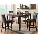U.S. Furniture Inc Devlon Pub Table with 6 Stools - Item Number: US2723 US2724 7 Pc Pub Set