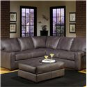 USA Premium Leather 2655 Sectional Sofa - Item Number: 2655-LF+RF