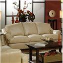 USA Premium Leather 3455 Sofa - Item Number: 3455-30