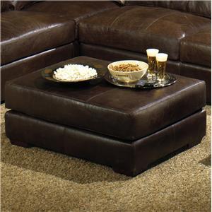 USA Premium Leather 3635 Cocktail Ottoman