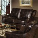 USA Premium Leather 3955 Contemporary Leather Loveseat - Item Number: 3955-20