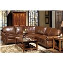 USA Premium Leather 4025 Sectional - Item Number: 4025-LF+15+RF