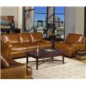 USA Premium Leather 4455 Leather Upholstered Chair - Shown with Optional Matching Sofa