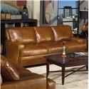 USA Premium Leather 4455 Sofa - Item Number: 4455-30