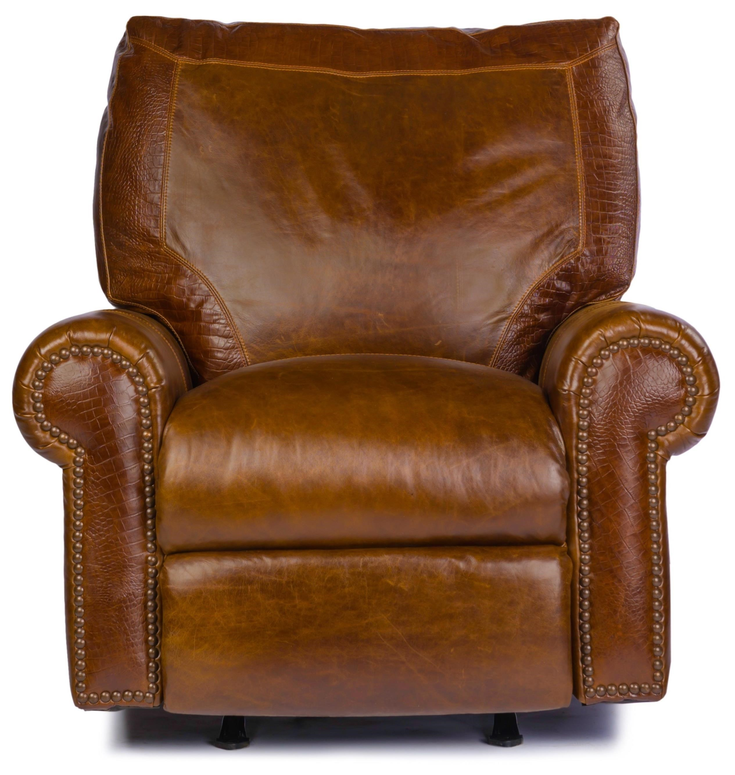Usa Premium Leather 4955 Traditional Leather Rocker