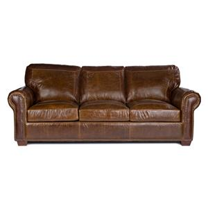 USA Premium Leather 4955 Stationary Sofa
