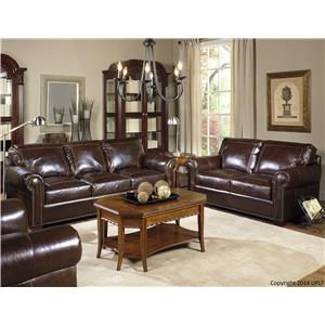 USA Premium Leather Kingsway Stationary Sofa