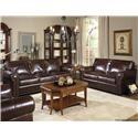 USA Premium Leather Kingsway Stationary Sofa - Item Number: 4955-30